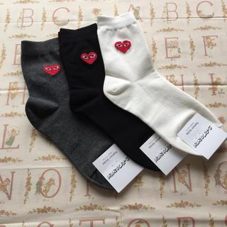 コムデギャルソン(COMME des GARCONS)の🧡 ハート靴下 3足セット.バラ売り不可 🧡(ソックス)