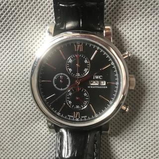 インターナショナルウォッチカンパニー(IWC)のIWC 腕時計 ポートフィノ  クロノグラフ 黒 IW391008 メンズ  (腕時計(アナログ))