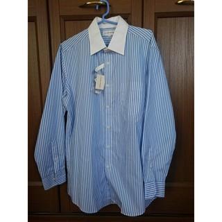 ユニクロ(UNIQLO)のUNIQLO ストライプシャツ 吸汗速乾 XL 大きいサイズ タグ付(シャツ)