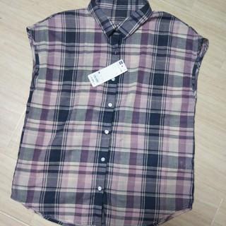 ジーユー(GU)の試着のみ☆GU マドラスチェックシャツ(シャツ/ブラウス(半袖/袖なし))
