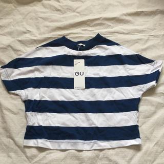 ジーユー(GU)のGU ドルマンスリーブボーダーT 110(Tシャツ/カットソー)
