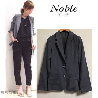 ノーブル(Noble)の美品 Spick and Span Noble テーラードジャケット 濃灰 36(テーラードジャケット)