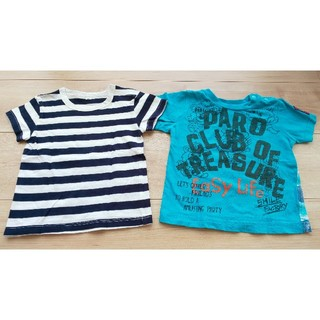 ムジルシリョウヒン(MUJI (無印良品))のタンクトップ 男の子 Tシャツ 2着セット まとめ売り 80(Tシャツ)