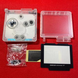 ゲームボーイアドバンス(ゲームボーイアドバンス)のGBASP ゲームボーイアドバンスSP 新品 外装 シェル クリア ホワイト(その他)