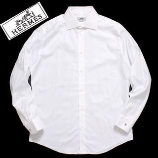 エルメス(Hermes)のHERMES セリエ ボタン シャツ size42 ホワイト エルメス(シャツ)