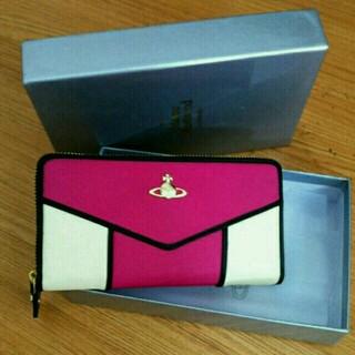 ヴィヴィアンウエストウッド(Vivienne Westwood)のvivienne財布 ピンク-白(財布)