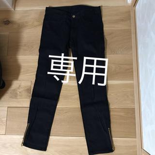ジーユー(GU)の黒 スキニー パンツ(スキニーパンツ)