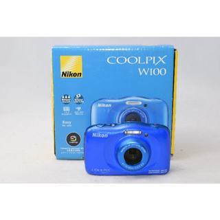 ニコン(Nikon)の☆展示品☆ニコン Nikon COOLPIX W100 ブルー 1年保証付④(コンパクトデジタルカメラ)