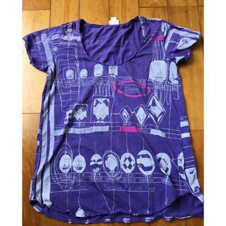ディーゼル(DIESEL)のDIESEL  Tシャツ  パープル&ピンク(Tシャツ(半袖/袖なし))