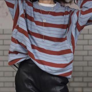 アンユーズド(UNUSED)のUNUSED/アンユーズド:ロングスリーブボーダー Tシャツ 2018(Tシャツ/カットソー(七分/長袖))