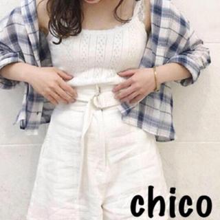 フーズフーチコ(who's who Chico)のwho's who chico  透かし柄キャミ(キャミソール)