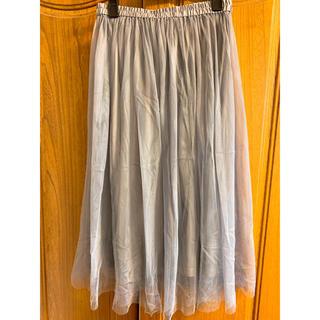 ジーユー(GU)のチュールスカート ロングスカート(ロングスカート)