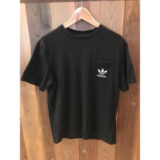 アディダス(adidas)のadidasのリフレクターTシャツ 黒 サイズL(Tシャツ/カットソー(半袖/袖なし))