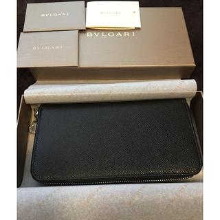 5306abcef8b6 ブルガリ(BVLGARI)のブルガリ ラウンドファスナー長財布 ブラック 20886 新品(長財布