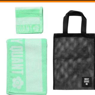 マリークワント(MARY QUANT)のMARY QUANT ビーチタオルとハンドタオルのセット メッシュバッグ付き(タオル/バス用品)