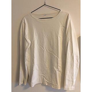 ユニクロ(UNIQLO)のUNIQLO 無地Tシャツ オフホワイト(Tシャツ/カットソー(七分/長袖))