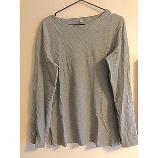 ユニクロ(UNIQLO)のUNIQLO 無地Tシャツ グレー(Tシャツ/カットソー(七分/長袖))