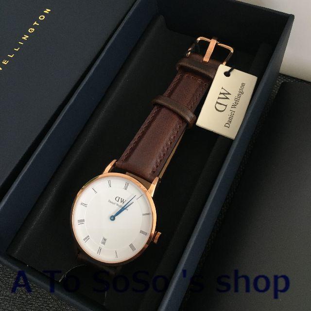 Daniel Wellington(ダニエルウェリントン)の限定お値下げ DW DAPPER  BRISTOL 34ミリ ローズゴールド メンズの時計(腕時計(アナログ))の商品写真