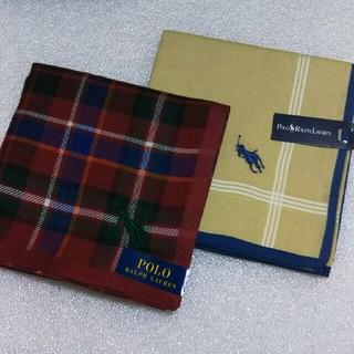 ラルフローレン(Ralph Lauren)のポロRALPH LAUREN &RALPH LAUREN☆ハンカチ2枚セット(ハンカチ/ポケットチーフ)
