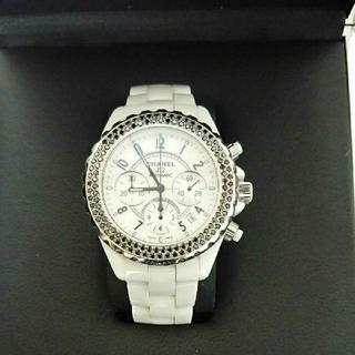 5eea810ccded シャネル(CHANEL)のシャネル J12 クロノグラフ ブラックダイヤベゼル(腕時計(アナログ
