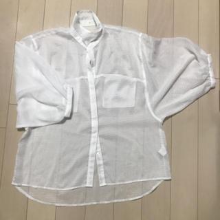 ジーユー(GU)のシースルーブラウス 半袖(シャツ/ブラウス(半袖/袖なし))