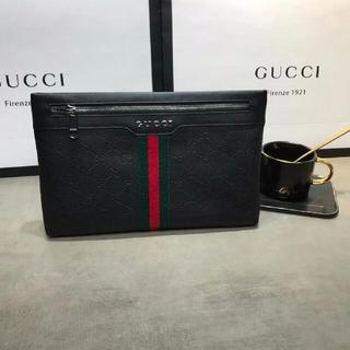 グッチ(Gucci)のGucci クラッチバッグ 牛革(セカンドバッグ/クラッチバッグ)