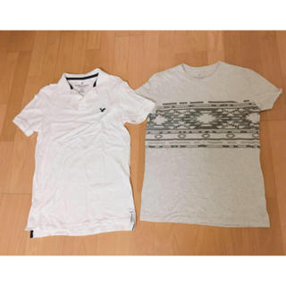 アメリカンイーグル(American Eagle)のAMERICAN EAGLES♡メンズシャツ2点セット🌼美品🍊(Tシャツ/カットソー(半袖/袖なし))