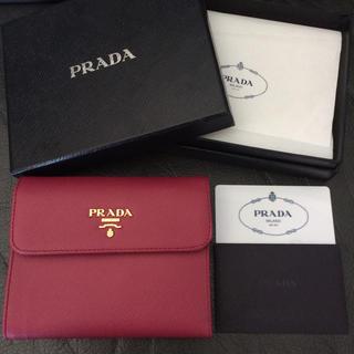 3a367c9330d5 ... カードパスケースミニレザー. ¥59,999. プラダ(PRADA)の新品未使用 プラダ折ミニ財布 サフィアーノレザーピンクバッグ