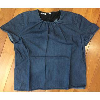 ミュウミュウ(miumiu)のミュウミュウ miumiu カットソー サイズ40(カットソー(半袖/袖なし))