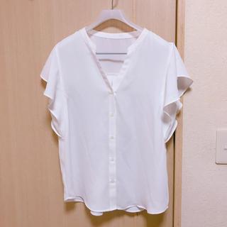 ジーユー(GU)のgu シフォンブラウス(シャツ/ブラウス(半袖/袖なし))