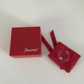 Baccarat - 美品 バカラ 指輪 クリスタル ドット 水玉