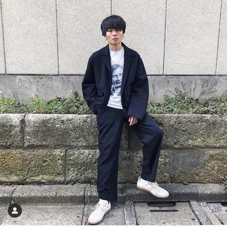 サンシー(SUNSEA)のuru  tokyo  18aw パンツ ネイビー(スラックス)
