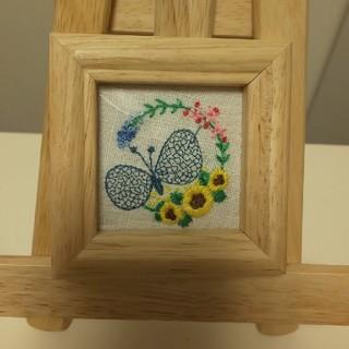 mina perhonen - ミナペルホネン お花の刺繍 壁掛け ハンドメイド