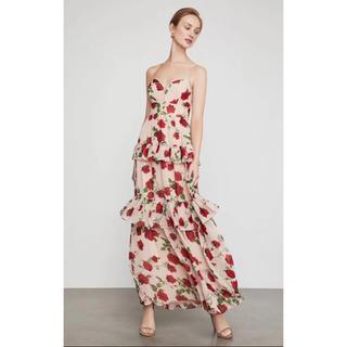 ビーシービージーマックスアズリア(BCBGMAXAZRIA)の❣️2019新作BCBGマックスアズリア花柄ドレス(ロングドレス)