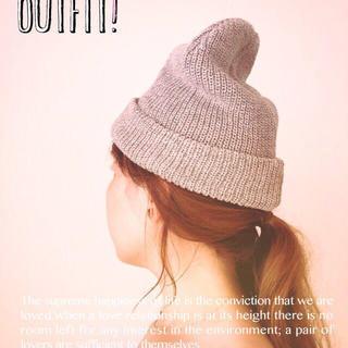 ケービーエフ(KBF)のKBF サマーニット帽 グレー(ニット帽/ビーニー)