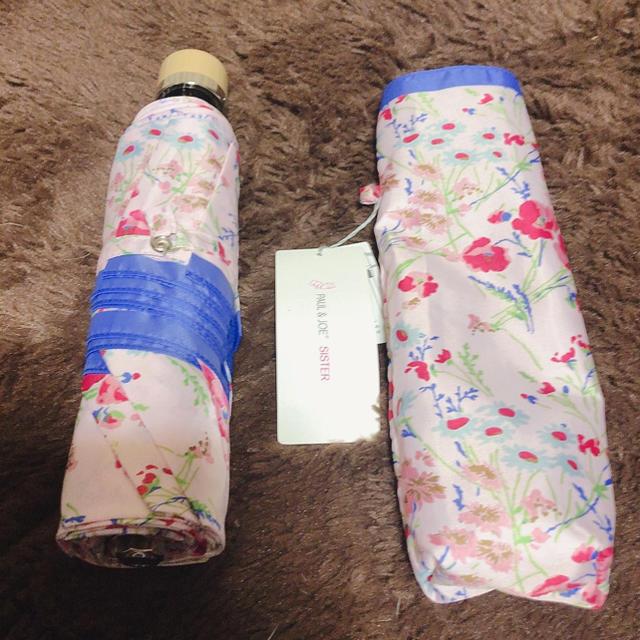 PAUL & JOE SISTER(ポール&ジョーシスター)の新品未使用 ポール&ジョー 折りたたみ傘 花柄 ピンク レディースのファッション小物(傘)の商品写真