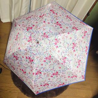 ポール&ジョーシスター(PAUL & JOE SISTER)の新品未使用 ポール&ジョー 折りたたみ傘 花柄 ピンク(傘)