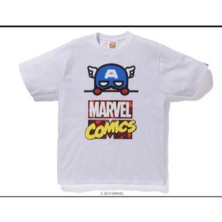 アベイシングエイプ(A BATHING APE)のBAPE MARVEL COMIC CAPTAIN TEE(Tシャツ/カットソー(半袖/袖なし))