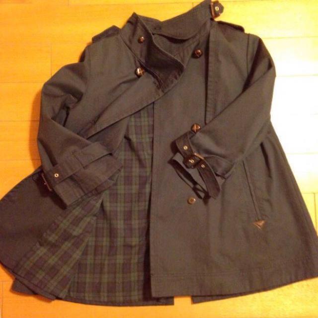 nano・universe(ナノユニバース)のナノユニバース Aライントレンチコート 38 ネイビー レディースのジャケット/アウター(トレンチコート)の商品写真