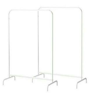 イケア(IKEA)の洋服ラック ハンガー ホワイト2点セット(棚/ラック/タンス)