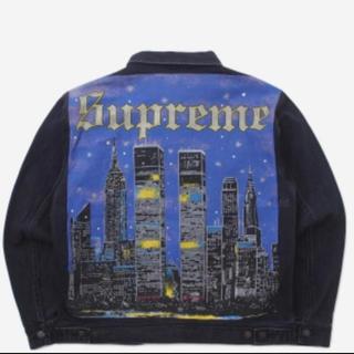 シュプリーム(Supreme)のL supreme newyork painted trucker jacket(Gジャン/デニムジャケット)