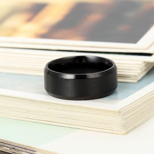 【格安!即購入可】メンズ指輪 シンプル 軽量 ブラック 日本サイズ20号 メンズのアクセサリー(リング(指輪))の商品写真
