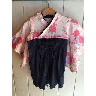 ベルメゾン(ベルメゾン)の袴 はかま ロンパース 80(和服/着物)