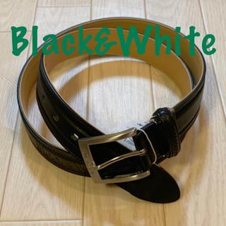 パーリーゲイツ(PEARLY GATES)の新品■10,800円【 ブラック アンド ホワイト】 メンズ ベルト ブラック(ベルト)