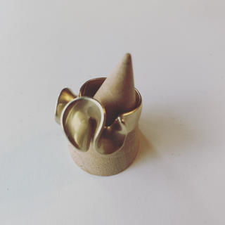 トゥデイフル(TODAYFUL)の新品未使用◆ マット ゴールド リング(リング(指輪))