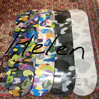 アベイシングエイプ(A BATHING APE)の送料込 BAPE スケートボード 4枚セット(スケートボード)