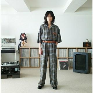サンシー(SUNSEA)のSUNSEA SPEC LINEN CHECK PANTS【新品未使用サイズ2】(スラックス)