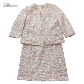 ブルマリン(Blumarine)の新品ブルマリンBlumarineツイードジャケット半袖ワンピーススーツ40(スーツ)