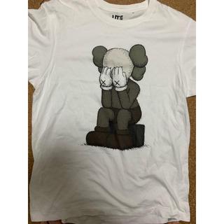 アベイシングエイプ(A BATHING APE)の激レアMサイズ!KAWS×UNIQLOコラボ目隠しTシャツ白(Tシャツ/カットソー(半袖/袖なし))