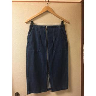 ジーユー(GU)のGU デニムスカート タイトスカート(ひざ丈スカート)